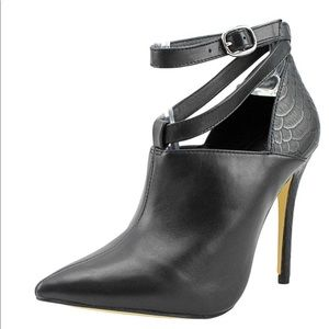 NEW ShoeMint VICTORIA Black High Heel Open Pump 7